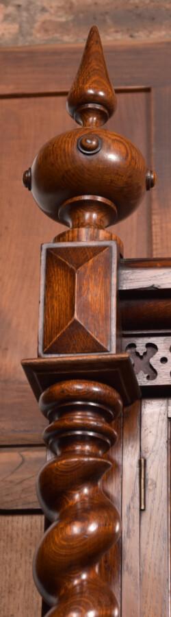 Victoria Oak Barley Twist Bookcase SAI2427 Antique Bookcases 38