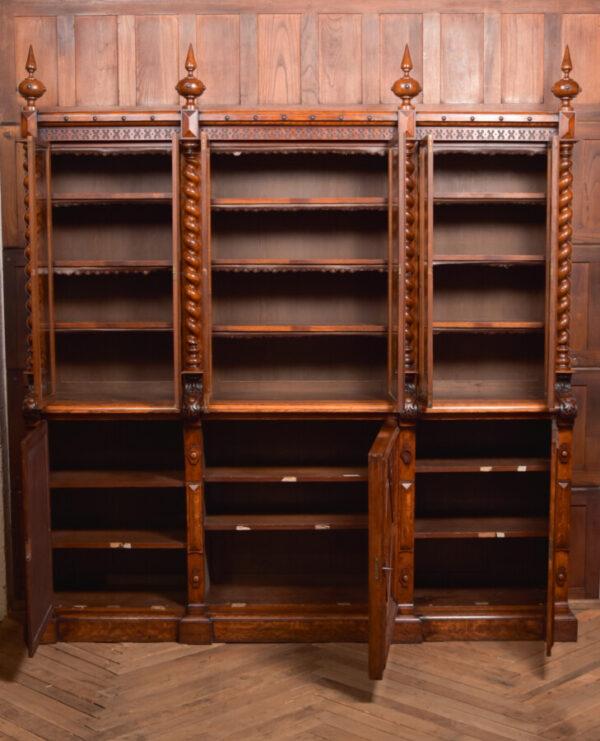 Victoria Oak Barley Twist Bookcase SAI2427 Antique Bookcases 47