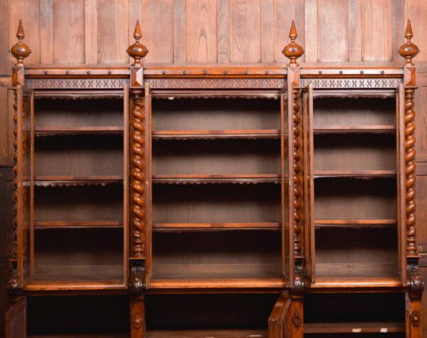 Victoria Oak Barley Twist Bookcase SAI2427 Antique Bookcases 46