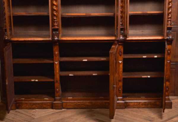 Victoria Oak Barley Twist Bookcase SAI2427 Antique Bookcases 45