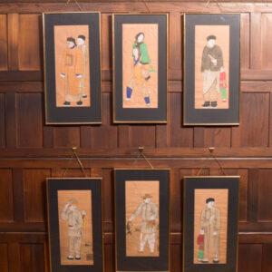 Set Of 6 Water Colours SAI2395 Antique Art