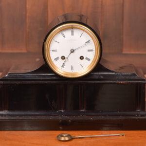 D Robertson Of Perth Black Ebonised Mantel Clock SAI2411 Antique Clocks