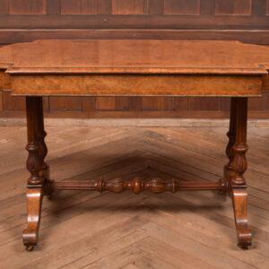 Victorian Burr Walnut Library Table SAI2403 Antique Tables