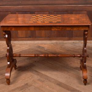 Burr Walnut Games Table SAI2406 Antique Tables
