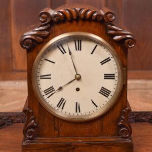 Victorian Rosewood Bracket Clock W & J Gardner Perth SAI2424 Antique Clocks