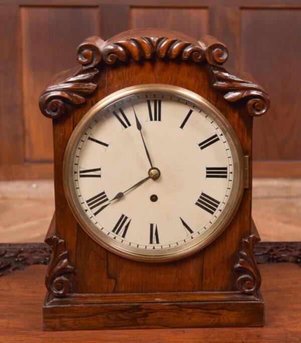 Victorian Rosewood Bracket Clock W & J Gardner Perth SAI2424 Antique Clocks 2