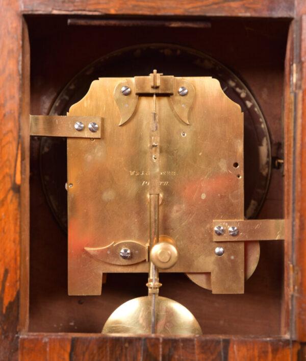 Victorian Rosewood Bracket Clock W & J Gardner Perth SAI2424 Antique Clocks 3