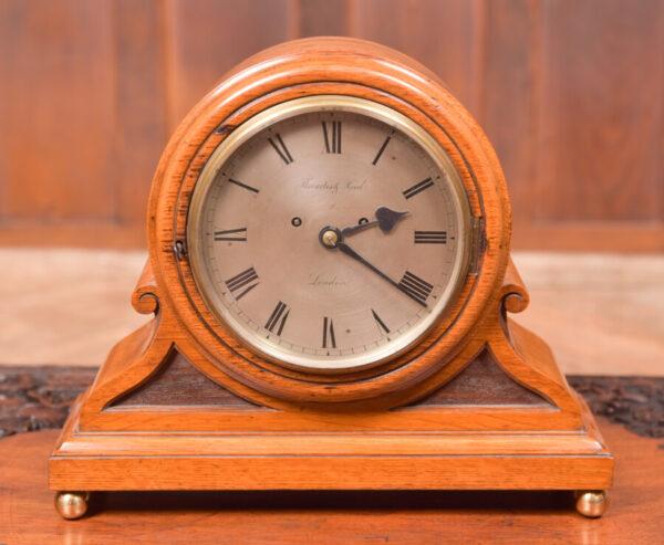 Oak Mantle Clock Thwaites & Reed Of London SAI2425 Antique Clocks 2