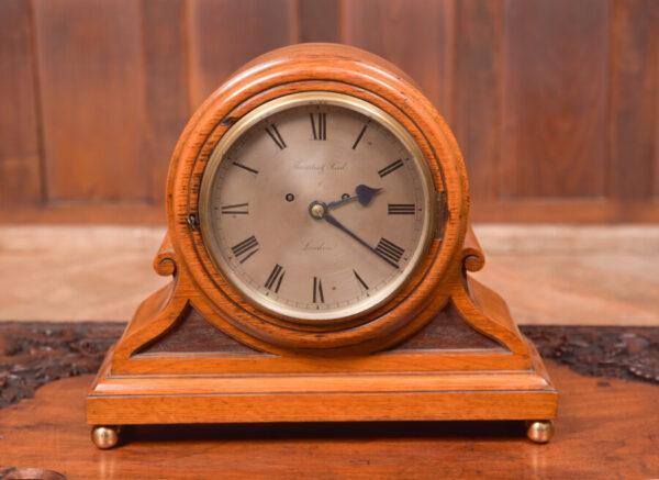 Oak Mantle Clock Thwaites & Reed Of London SAI2425 Antique Clocks 7