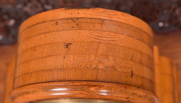 Oak Mantle Clock Thwaites & Reed Of London SAI2425 Antique Clocks 6