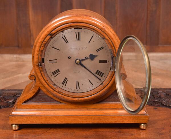 Oak Mantle Clock Thwaites & Reed Of London SAI2425 Antique Clocks 3