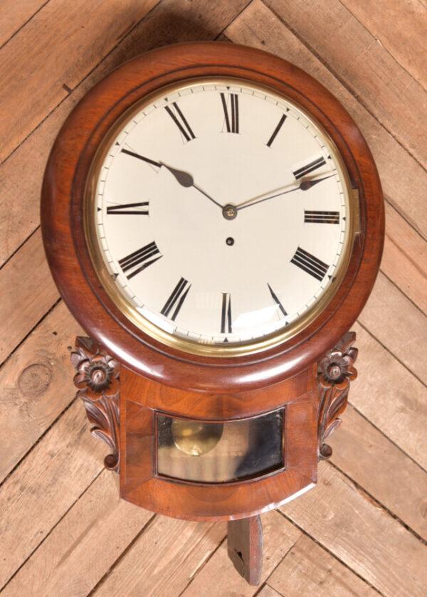Mahogany Wall Clock SAI2419 Antique Clocks 4