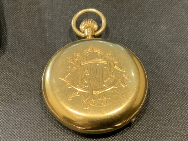 18CT Full Hunter pocket watch by Rotherham's of London Antique Watches 5