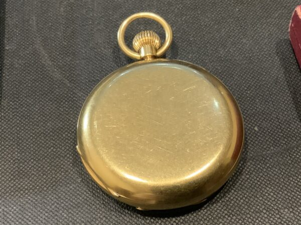 18CT Full Hunter pocket watch by Rotherham's of London Antique Watches 8