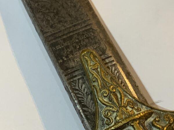 Mameluke French Napoleonic Officers sword. Antique Swords 7