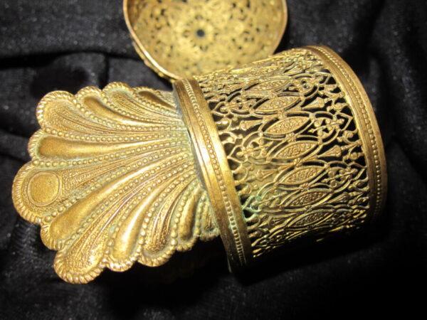 19th Century Oriental Gilt Bronze Elephant Incense Burner Antique Metals 5