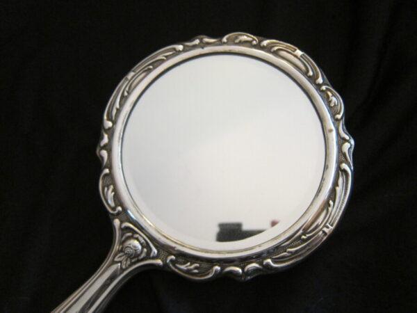Vintage German Silver Hallmarked 835 Dressing Table Set Antique Mirrors 6