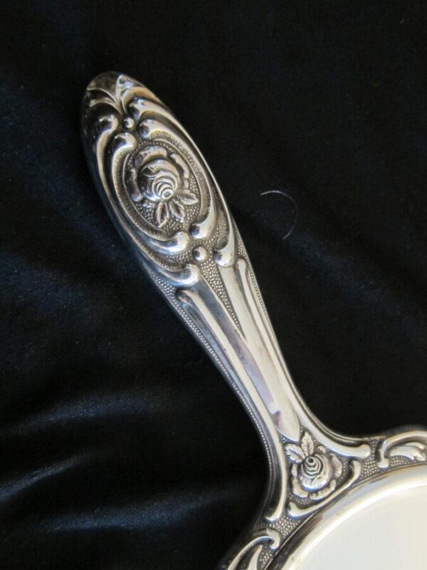 Vintage German Silver Hallmarked 835 Dressing Table Set Antique Mirrors 7
