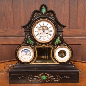 Black Marble Mantel Clock SAI2429 Antique Clocks