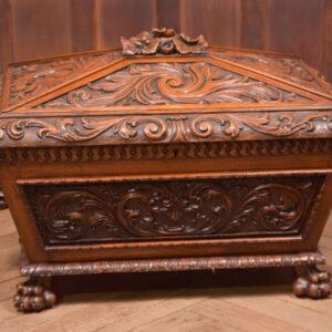 Carved Oak Cellarette SAI2431 Antique Boxes 2