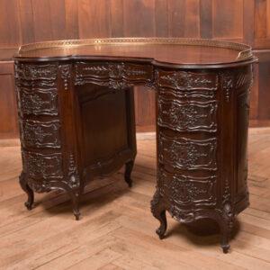 Kidney Shaped Carved Desk SAI2432 Antique Desks