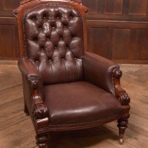 Victorian Button Back Library Chair SAI2435 Antique Chairs