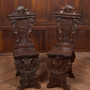 Pair Of Italian Carved Hall Chairs SAI2434 Antique Chairs