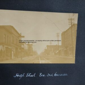 Rare Early Photograph Hight Street Soo Sault Ste Marie Ontario Canada East Indies c1900 Antique Photograph Scientific Antiques